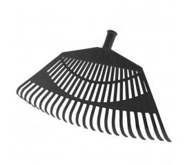 Rastrillo Jardín Plástico Trapezoidal Color Negro 32 Dientes