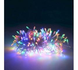 Guirnalda Luces Navidad 300 Leds Color Multicolor. Luz Navidad Interiores y Exteriores Ip44. Cable Transparente.