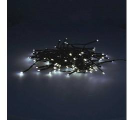 Guirnalda Luces Navidad 100 Leds Color Blanco Frío. Luz Navidad interiores y exteriores IP44. 3 Baterías AA (No incluidas)