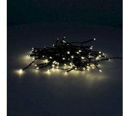 Guirnalda Luces Navidad 100 Led Color Blanco Cálido. Luz Navidad interiores y exteriores IP44. 3 Baterías AA (No incluidas)