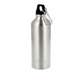 Botella de Agua Aluminio Con mosquetón, Cierre hermético 500 ml.