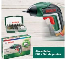 Atornillador IXO + Set Puntas Bricolaje Bosch