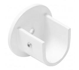 Soporte Circonio Lateral Para Barras Ø 20 mm. Acabado Blanco (2 Piezas)
