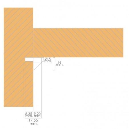 Soporte de Plástico Con Anclaje Metálico 5 Ø mm. Para Estanterías / Estantes (Caja 100 Unidades)