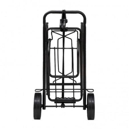 Carretilla Plegable Metálica De Carga - Porta Maletas Con Cuerda Elástica 93,5x33x44 cm. Carro De Transporte 50 Kg.
