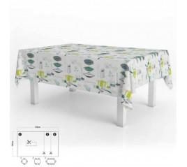 Mantel Hule Accesorios Cocina Impermeable Antimanchas PVC 140x250 cm.  Recortable Uso Interior y Exterior