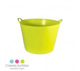 Cesta Ordenación Colada Polipropileno 15 litros.  Ø 36 x 25 (Alt.) cm. Colores Surtidos