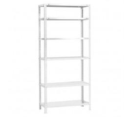 Modulo Estantería Con 6 estantes 90x30x200 cm. Pintado blanco.