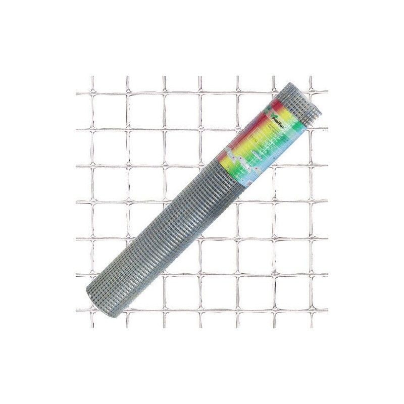 Malla Electrosoldada Galvanizada 13x13 / 100 cm. rollo 10 Metros Uso Domestico