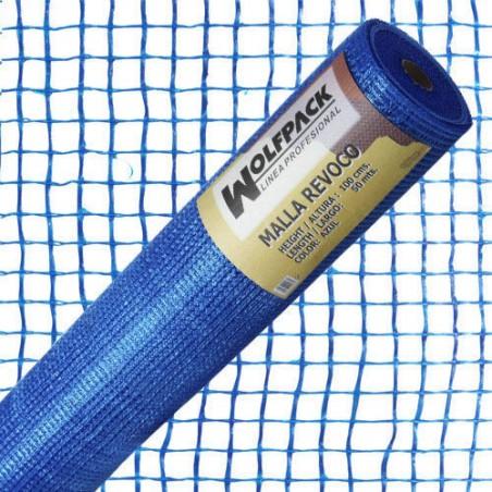 Malla Revoco Azul Rollo 50 m. x 1 metro. Luces 10x10 mm.