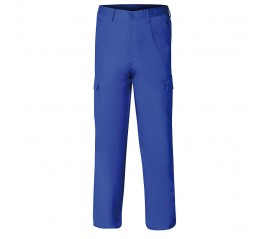 Pantalon De Trabajo Azul...