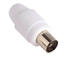 Conector TV Macho Recto 9,5...