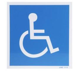 Cartel Minusvalidos Azul...
