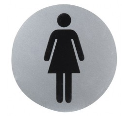 Cartel Aluminio Baño Mujer...