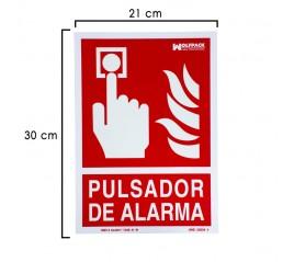 Cartel Pulsador Alarma...
