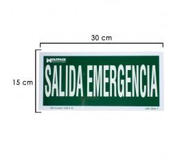 Cartel Salida De Emergencia...
