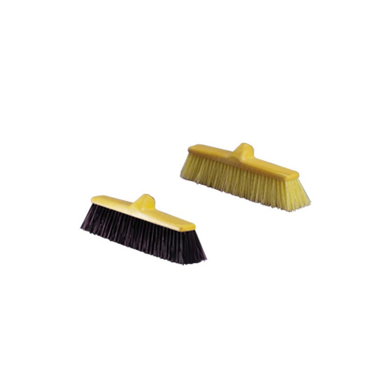 Cepillo Barrendero Fibra Negra Sin Mango
