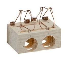 Trampa ratones madera 2...
