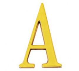 """Letra Latón """"A"""" 10 cm. con..."""