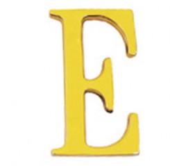 """Letra Latón """"E"""" 10 cm. con..."""