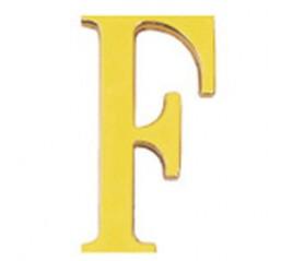 """Letra Latón """"F"""" 10 cm. con Tornilleria Oculta (Blister 1 Pieza)"""
