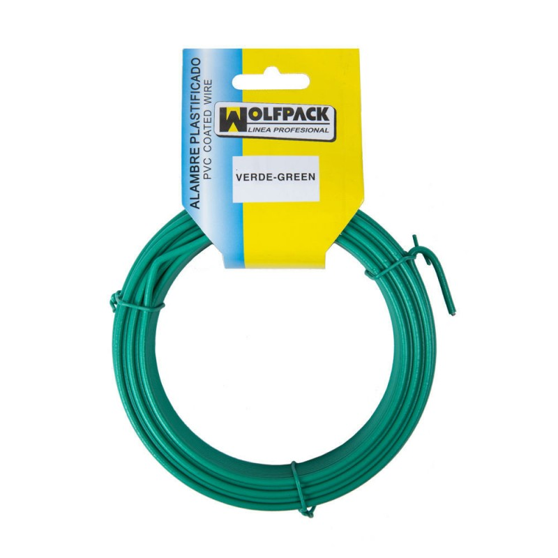 Alambre Plastificado (Rollo 15 Metros) Verde Nº 16 / 2.7 mm.
