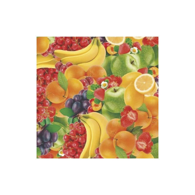 Mantel Hule Rollo 140 Cm X 20 Metros Frutas