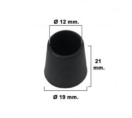 Contera Cónica Negra 14mm....