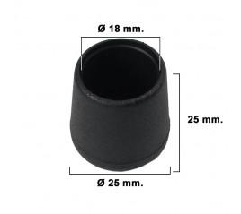 Contera Cónica Negra 18mm....