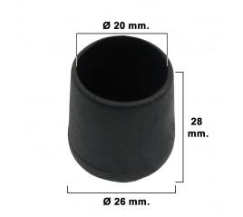 Contera Cónica Negra 20mm....