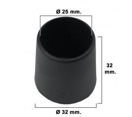 Contera Cónica Negra 25mm....