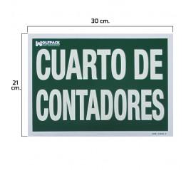 Cartel Cuarto De Contadores...